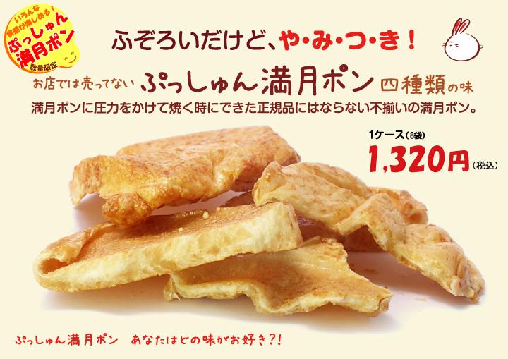 濃い〜味ぷっしゅん満月ポン新発売